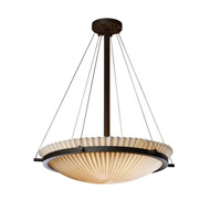 Porcelina 6 Light 27 inch Dark Bronze Pendant Bowl Ceiling Light in Pleats