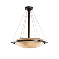 Porcelina 6 Light 27 inch Matte Black Pendant Bowl Ceiling Light in Sawtooth