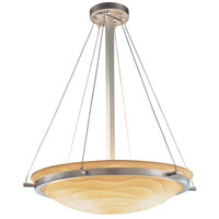 Porcelina 6 Light 27 inch Brushed Nickel Pendant Bowl Ceiling Light in Waves