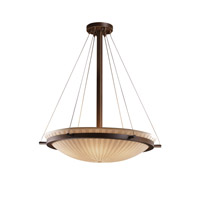 Porcelina 6 Light 27 inch Dark Bronze Pendant Bowl Ceiling Light in Waterfall