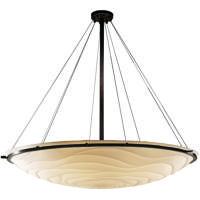 Justice Design PNA-9697-35-WAVE-DBRZ Porcelina 6 Light 51 inch Dark Bronze Pendant Ceiling Light Bowl