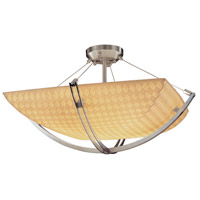 Justice Design PNA-9711-25-WAVE-DBRZ-LED3-3000 Porcelina LED 22 inch Dark Bronze Semi-Flush Ceiling Light in 3000 Lm LED, Waves, Square Bowl photo thumbnail