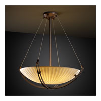 Porcelina 3 Light 22 inch Dark Bronze Pendant Bowl Ceiling Light in Round Bowl, Waterfall