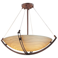 Justice Design PNA-9727-35-WAVE-DBRZ Porcelina 8 Light 55 inch Dark Bronze Pendant Bowl Ceiling Light in Round Bowl, Waves photo thumbnail