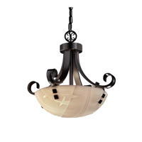 Justice Design Signature 2 Light Pendant in Matte Black PNA-9740-35-BANL-MBLK-F2