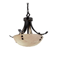 Justice Design Signature 2 Light Pendant in Matte Black PNA-9750-35-BANL-MBLK-F3