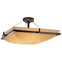 Porcelina 3 Light 20 inch Dark Bronze Semi-Flush Bowl Ceiling Light in Waterfall
