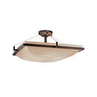 Porcelina 6 Light 27 inch Dark Bronze Semi-Flush Bowl Ceiling Light in Waves