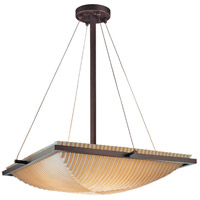 Porcelina 3 Light 20 inch Dark Bronze Pendant Bowl Ceiling Light in Pleats