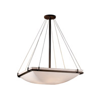Porcelina 8 Light 40 inch Dark Bronze Pendant Bowl Ceiling Light in Smooth