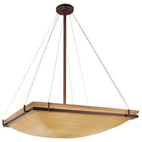 Porcelina 8 Light 53 inch Dark Bronze Pendant Bowl Ceiling Light in Sawtooth