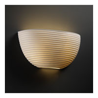Justice Design Limoges Ada Quarter Sphere Wall Sconce POR-5725-SAWT