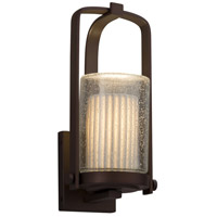 Justice Design POR-7581W-10-WFAL-NCKL Limoges 1 Light 13 inch Outdoor Wall Sconce in Brushed Nickel, Waterfall, Incandescent