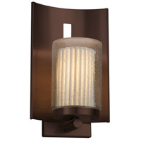 Justice Design POR-7591W-10-WFAL-NCKL Limoges 1 Light 13 inch Outdoor Wall Sconce in Brushed Nickel, Waterfall, Incandescent