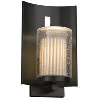 Justice Design POR-7591W-10-PLET-MBLK-LED1-700 Limoges LED 13 inch Outdoor Wall Sconce in 700 Lm LED Matte Black Pleats