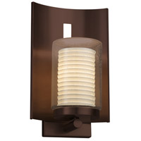 Justice Design POR-7591W-10-SAWT-DBRZ-LED1-700 Limoges LED 13 inch Outdoor Wall Sconce in 700 Lm LED Dark Bronze Sawtooth