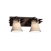 Justice Design Metropolis 2 Light Vanity Light in Dark Bronze POR-8172-20-SAWT-DBRZ