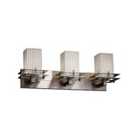 Justice Design Metropolis 3 Light Vanity Light in Brushed Nickel POR-8173-15-PLET-NCKL