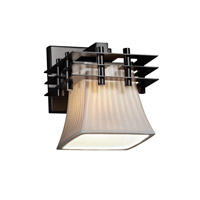 Justice Design Metropolis 1 Light Wall Sconce in Matte Black POR-8175-40-WFAL-MBLK