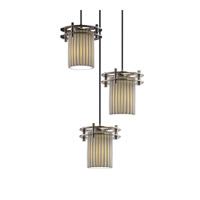 Justice Design Limoges 3 Light Pendant in Brushed Nickel POR-8266-10-PLET-NCKL-BKCD