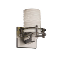 Justice Design Limoges 1 Light Wall Sconce in Brushed Nickel POR-8271-10-WAVE-NCKL