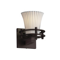 Limoges 1 Light 8 inch Dark Bronze Wall Sconce Wall Light in Pleats, Round Flared