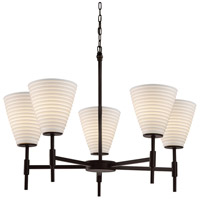 Justice Design Group Limoges Collection LED Chandelier in Matte Black POR-8410-50-SAWT-MBLK-LED5-3500