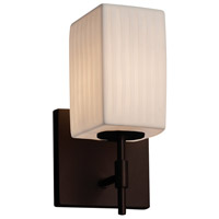 Limoges Collection 1 Light 5 inch Dark Bronze Wall Sconce Wall Light in Waterfall, Fluorescent, Square with Flat Rim