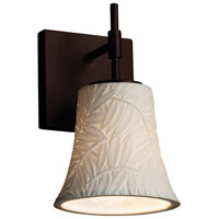 Limoges Collection 1 Light 6 inch Dark Bronze Wall Sconce Wall Light in Bamboo, Fluorescent, Round Flared