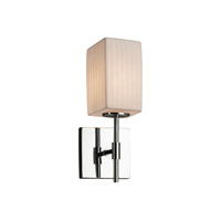 Limoges Collection LED 5 inch Polished Chrome Wall Sconce Wall Light in Waterfall, 700 Lm 1 Light LED, Square with Flat Rim