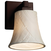 Limoges Collection LED 6 inch Dark Bronze Wall Sconce Wall Light in Banana Leaf, 700 Lm 1 Light LED, Round Flared