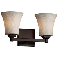 Justice Design Group Limoges Collection 2 Light Vanity Light in Matte Black POR-8432-20-BANL-MBLK