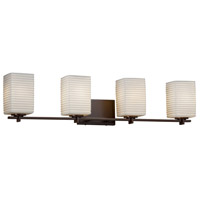 Limoges 4 Light 34 inch Vanity Light Wall Light in 7.75, Sawtooth, Dark Bronze, Incandescent, 34.25, Square with Flat Rim
