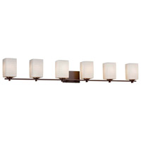 Limoges 6 Light 54 inch Dark Bronze Bath Bar Wall Light