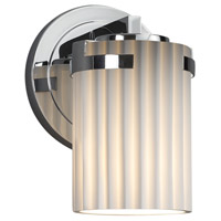 Justice Design POR-8451-10-PLET-CROM Limoges 1 Light 5 inch Wall Sconce Wall Light in Polished Chrome Pleats Incandescent