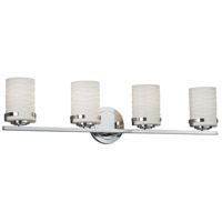 Limoges 4 Light 32 inch Vanity Light Wall Light in Waves, Polished Chrome, Incandescent