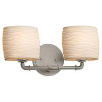 Justice Design POR-8462-30-WAVE-NCKL-LED2-1400 Limoges LED 17 inch Brushed Nickel Bath Bar Wall Light Oval