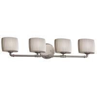 Justice Design POR-8464-30-PLET-NCKL-LED4-2800 Limoges LED 36 inch Brushed Nickel Bath Bar Wall Light Oval
