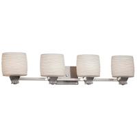 Justice Design POR-8474-30-BANL-DBRZ-LED4-2800 Limoges LED 35 inch Dark Bronze Bath Bar Wall Light in 2800 Lm LED, Banana Leaf, Oval