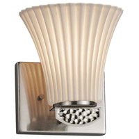 Justice Design POR-8491-20-PLET-NCKL Limoges Malleo 1 Light 6 inch Brushed Nickel Wall Sconce Wall Light