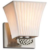 Justice Design POR-8491-40-WFAL-NCKL-LED1-700 Limoges Malleo LED 6 inch Brushed Nickel Wall Sconce Wall Light