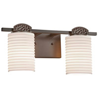Justice Design POR-8492-10-SAWT-DBRZ Limoges Malleo 2 Light 15 inch Dark Bronze Bath Bar Wall Light