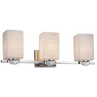 Justice Design POR-8493-15-WAVE-DBRZ Limoges Malleo 3 Light 24 inch Dark Bronze Bath Bar Wall Light