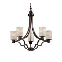 Justice Design Limoges Argyle 5-Light Chandelier in Dark Bronze POR-8500-10-CHKR-DBRZ
