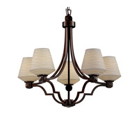 Justice Design Limoges Argyle 5-Light Chandelier in Dark Bronze POR-8500-22-WAVE-DBRZ