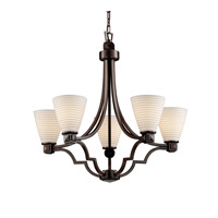 Justice Design Limoges Argyle 5-Light Chandelier in Dark Bronze POR-8500-50-SAWT-DBRZ