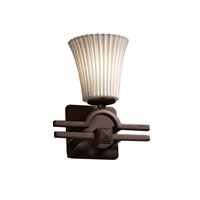 Justice Design Limoges Argyle 1-Light Wall Sconce in Dark Bronze POR-8501-20-PLET-DBRZ
