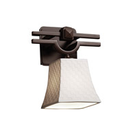 Limoges 1 Light 9 inch Dark Bronze Wall Sconce Wall Light in Checkerboard, Square Flared