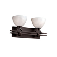 Justice Design Limoges Argyle 2-Light Bath Bar in Dark Bronze POR-8502-35-WFAL-DBRZ