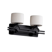 Justice Design Limoges Argyle 2-Light Bath Bar in Matte Black POR-8502-45-WFAL-MBLK